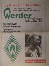Programm Sonderausgabe taz 1996/97 SV Werder Bremen