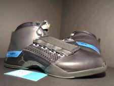 2002 Nike Air Jordan XVII 17 BLACK SILVER WOLF COOL GREY WHITE 302720-041 11.5