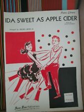 IDA, SWEET AS APPLE CIDER BY PIETRO DEIRO JR- ACCORDION SOLO SHEET MUSIC NOS