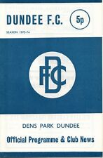 More details for 73/74 dundee v hearts (4th january – postponed)