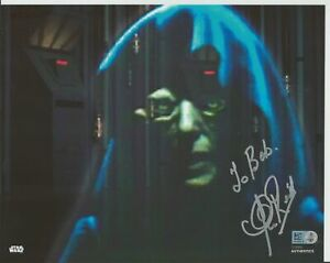 "Clive Revill  Autograph Star Wars Celebration 8"" x 10"" Topps Authentic"