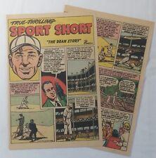 1949 four page DIZZY DEAN Sport Short cartoon