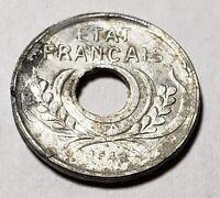 1943 French Indonesia Indochina Indo-China 5 Cents