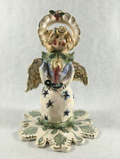 Angel Caroler Tea Light by Heather Goldminc Retired Blue Sky Clayworks #Cl20030
