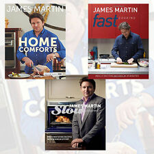 James Martin Cooking 3 Books Collection Set Home Comforts,Fast Cooking Pack NEW
