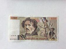 Billet français 100 F Delacroix  1989 T134 Voir Photo