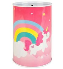 UNICORN MONEY TIN Saving Funds Coin Money Box Container Large Sealed Piggy Bank