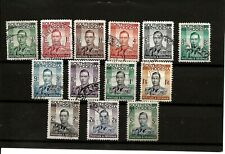 SOUTHERN RHODESIA (539) 1937 SG40-52 FULL SET OF 13 GOOD TO FINE USED SEE SCAN