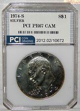 1974 S Eisenhower Dollar Beautiful Silver Proof