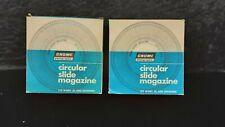 Vintage Circular Slide Magazine Carousels - Gnome Showing 122 Slides GC (C2)