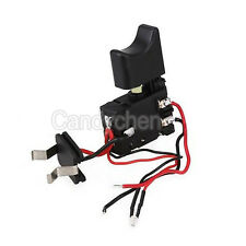 Electric Drill Dustproof Speed Control Push Button Trigger Switch 16A DC 7.2-24V