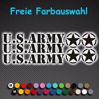A77# Aufkleber US Army Armee Stern Sterne Auto Autoaufkleber Sticker U.S. Jeep