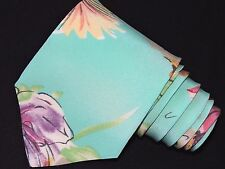 "Ralph Lauren Purple Label Herren Krawatte hellgrün/Blumenmuster 3.7/8"" 59"" England"