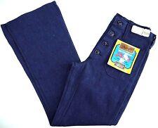 NOS VINTAGE WRANGLER bell bottom denim BUTTONEERS SAILOR jeans womens 28x30 NWT