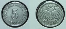 5 Reichspfennig - 1909 D - Deutsches Reich - Kaiserreich    (572)***