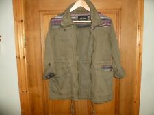 RIVER ISLAND - Girls Green Paker Coat - Size UK 8 - In great condition