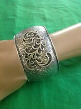 Silpada Sterling Silver Matte Wave Cuff Bracelet $289 B1866 Retired BEAUTIFUL!