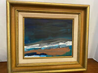 Original Abstract  Oil Painting Night Over Penobscot Bay -  Signed and Dated