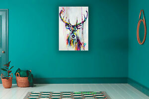 Watercolor Deer art poster CANVAS PRINT, ROLLED,STRETCHED or FLOATING FRAME