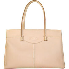 TOD's Made in Italy luxury Authentic genuine nude leather MOCASSINO bag $1600