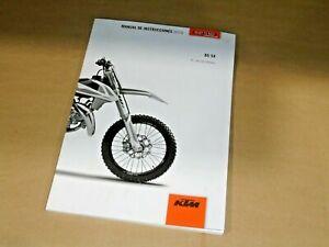 Factory KTM 85 SX Owner's Manual 2019 OEM 3213846ES Spanish Language