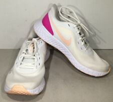 Nike Revolution 5 Women's Size 8.5 White/Coral/Pink Running Shoes X5-695*