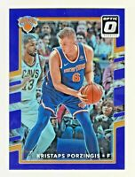 2017-18 Donruss Optic PURPLE PRIZM REFRACTOR #98 KRISTAPS PORZINGIS Mavericks