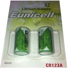 4 Piles CR123  CR123A 3V LITHIUM 1500mAh Eunicell APPAREIL PHOTO Grande Capacité