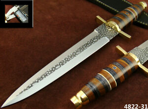 ALISTAR 14'' HANDMADE ACID ETCH STAINLESS STEEL HUNTING DAGGER KNIFE (4822-31