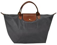 Longchamp Le Pliage Classic Nylon Medium Handbag Authentic Overrun - Graphite