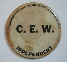 VTG Communication Equipment Workers Inc CEW Pinback Button Independent 4