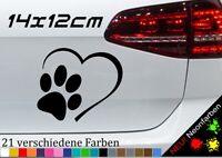 Aufkleber Pfoten//Tatze Hund//Katze Auto,Motorrad,Fahrrad,E-Bike,Helm,Farbe Pink