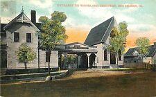 Vintage Postcard Entrance to Woodland Cemetary Des Moines Iowa IA Polk County