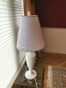"""Land of Nod Table Lamp - 24"""" -Light Purple Shade - used but looks new"""