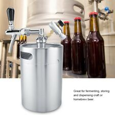 5L Mini Stainless Steel Keg W/ Faucet Pressurized Home Brew Craft Beer Dispenser