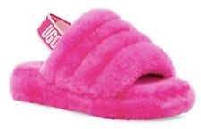 UGG Australia Fluff Yeah Slide Rock Rose Pink Women's Sandals New In Box Size 9