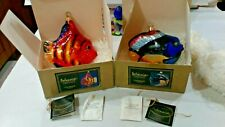 2 Kurt Adler Polonaise Tropical Fish Hand Blown Ornaments With Boxes