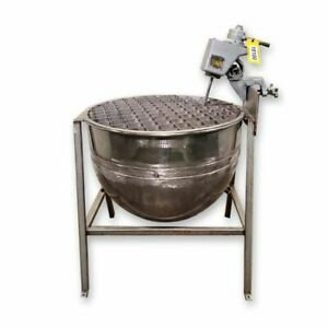 Used 100 Gal. Stainless Steel Jacketed Kettle w/ Mixer