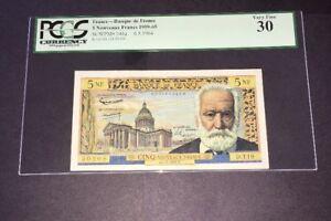 PCGS Currency Graded Banque De France 5 Francs Banknote 1964 141a