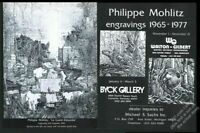 1977 Philippe Mohlitz art SFC gallery show vintage print ad