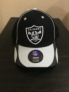 Oakland Raiders Youth Cap Helix Structed Snapback - BOYS 8-20 - NFL Licensed