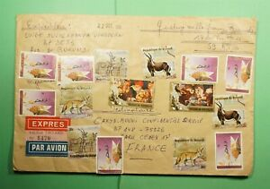 DR WHO 1991 BURUNDI SPECIAL DELIVERY REGISTERED AIRMAIL TO FRANCE  Lg08800