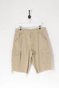 Vintage Levi's Cut-Off Combat Shorts Beige (W34)