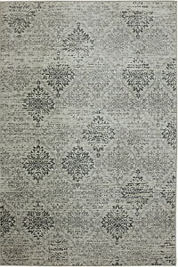 7' x 10' Karastan Machine Woven Area Rug Wexford Sand Stone Cream Ash Grey