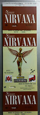Authentic/REAL Nirvana concert ticket France 1994 Feb. 15 MINT UNUSED Cancelled