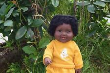 "LARGE 18"" BEDTIME BRANDON BABY BOYS DOLL AMERICAN BLACK AFRICAN VINYL 48CM"