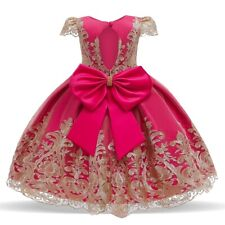 Baby Girl Princess Lace Flower Girl Birthday Party Dress Wedding Tutu Gown
