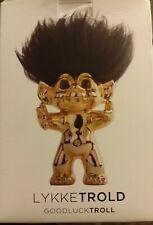 Good Luck Gold Brass 12cm Troll Doll Collectable Figure Lykketrold LikeNew fr/sh
