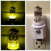 6AK5 6AL5 Style Vintage Vacuum Tube Yellow LED Night Light Guitar TV Ham Radio