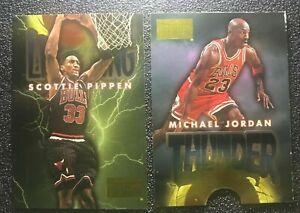 1996-97 Skybox Premium Thunder and Lightning #1 Michael Jordan/Scottie Pippen